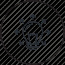 design, idea, line, share, sharing icon