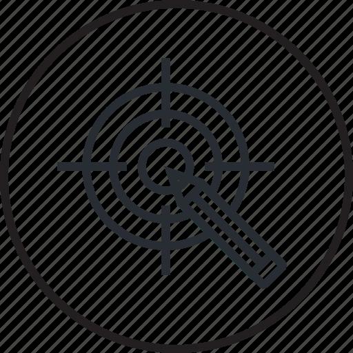 design, focus, line, market, research, target icon