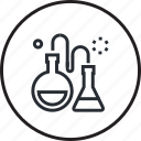 design, development, laboratory, line, process, science icon