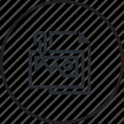 brief, design, line, picture icon
