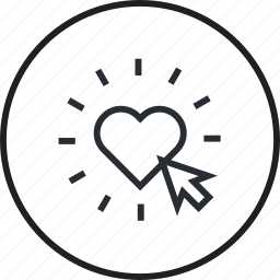 design, favourite, heart, line icon