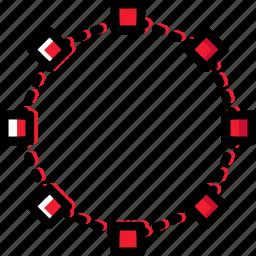 design, edit, graphic, joints, nonagon, tool icon