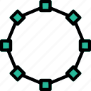 design, edit, graphic, line, nonagon, tool icon