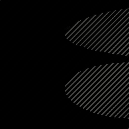 design, graphic, scallop, tool icon