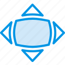 bloat, design, graphic, tool icon