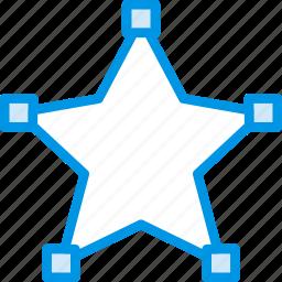 design, edit, graphic, line, star, tool icon