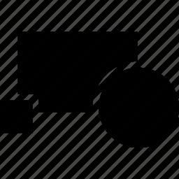 block, cad, create, design, solid icon