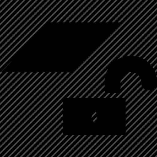 cad, design, layer, solid, unlock icon
