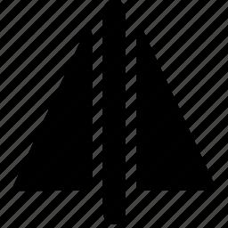 cad, design, mirror, solid icon