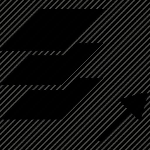 cad, design, layer, solid, unisolate icon