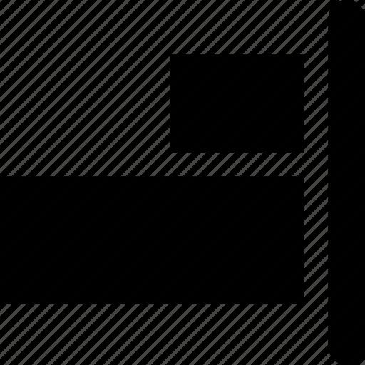 align, cad, design, solid icon