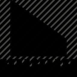 angle, cad, design, measure, solid icon