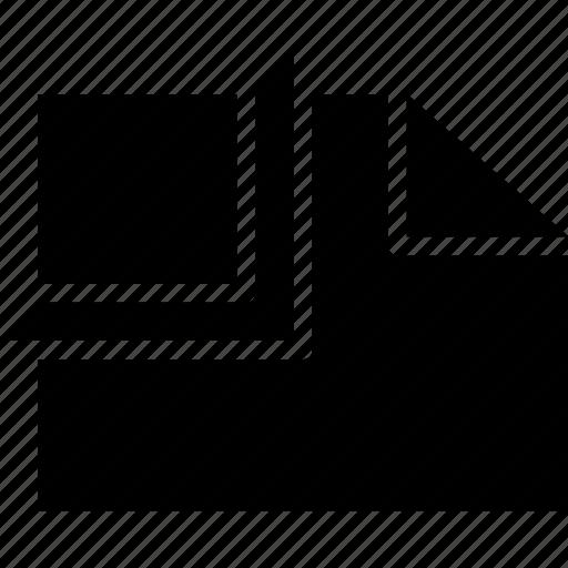 cad, clip, design, solid icon