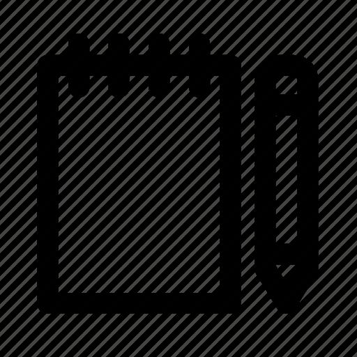 design, graphic, note, pencil, tool icon