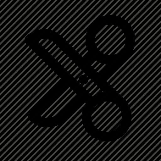 cut, design, graphic, scissors, tool icon