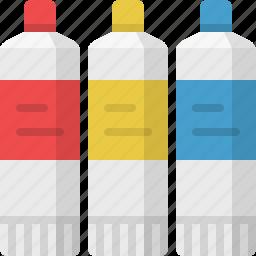 art, artist, artistic, color tubes, colors, design, tubes icon
