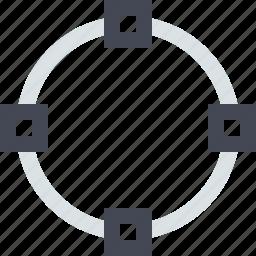 circle, circular, crop, transform icon