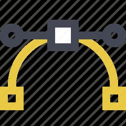 adjustment, bezier curve, curve, pen line, pen tool, precision icon