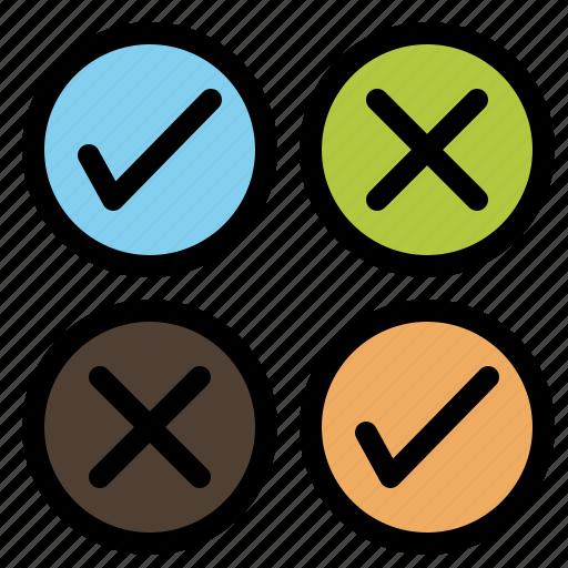 Creative, cross, design, tick icon - Download on Iconfinder
