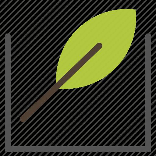 green, leaf, tree icon