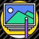 art, creative, design, edit, image icon