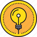 art, creative, creativity, design, idea, light icon
