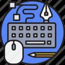 art, creative, design, digital, drawing, keyboard icon