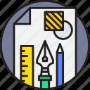 art, creative, design, tool icon