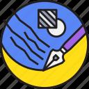 art, creative, design, paint, pen icon