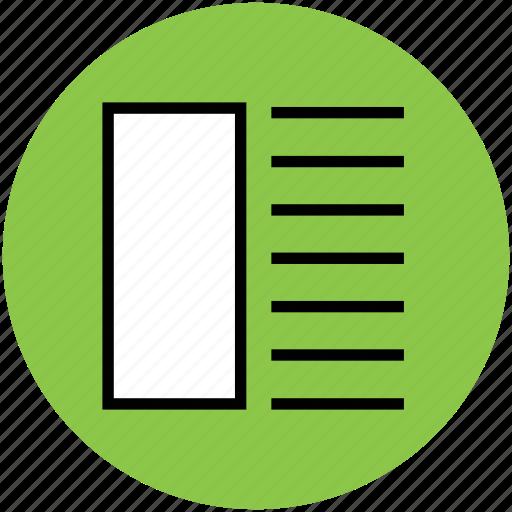 layout, li, lines, list item, option, square, ul icon