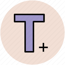 letter t, text, text editor, text formatting, text tool icon