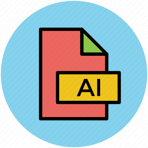 adobe illustrator, ai file, design file, extension file, illustrator file icon
