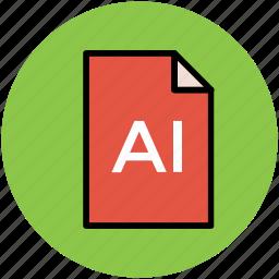 adobe illustrator, ai file, design file, extension file, illustrator file icon