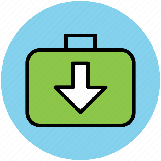 data download, down arrow, download, income data icon