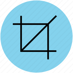 crop button, crop image, crop tool, cropping, transform, trim tool icon