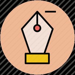 anchor pen, design, nib, pen, pen nib, pen tool icon