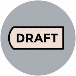 designing, draft tag, tag, typographic, typography icon