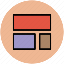 boxes, designing, layers, layout, rectangles, web designing icon