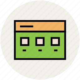 layout, list, web, web boxes, wireframe icon