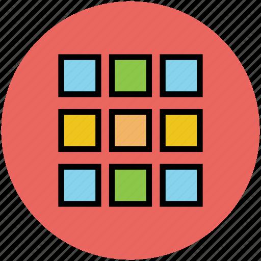 blocks, layout, page, web, window icon