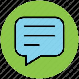 chat, chat bubble, comments bubble, speech bubble icon