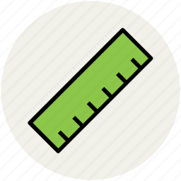 education, math, measure, measurement, ruler, ruler scale, scale icon