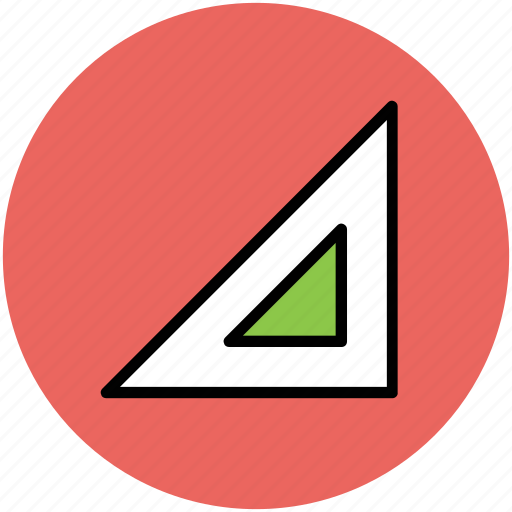 degree square, drawing, geometry, geometry tools, triangle set square icon