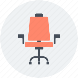 chair, furniture, mesh chair, office chair, revolving chair icon