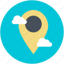 location pin, location marker, map locator, map pin, location pointer