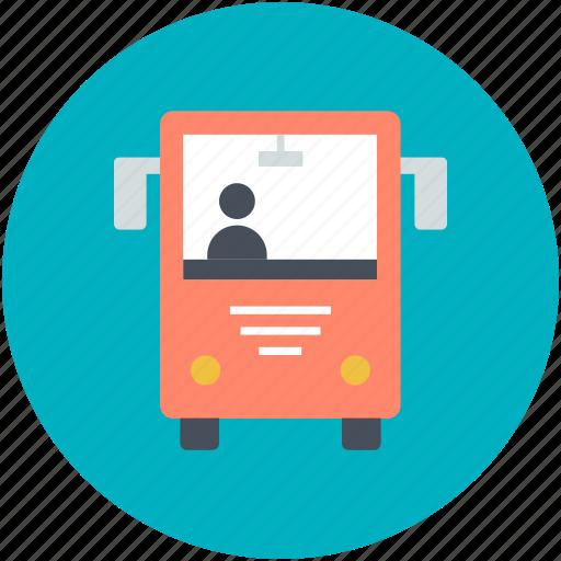 bus, public bus, public transport, public vehicle, transport icon