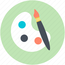 art, artist plate, colors, paint palette, painting icon