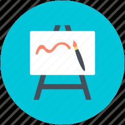 art board, chalkboard, easel, easel board, whiteboard icon
