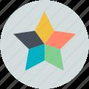 color, color combination, design, star combination, stars color icon