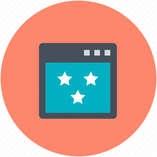 ranking star, star ornament, stars, three stars, web ranking icon